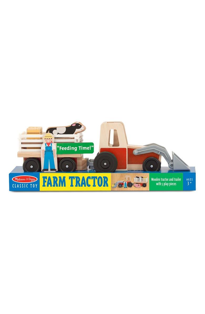 MELISSA & DOUG Farm Tractor Play Set, Main, color, 200