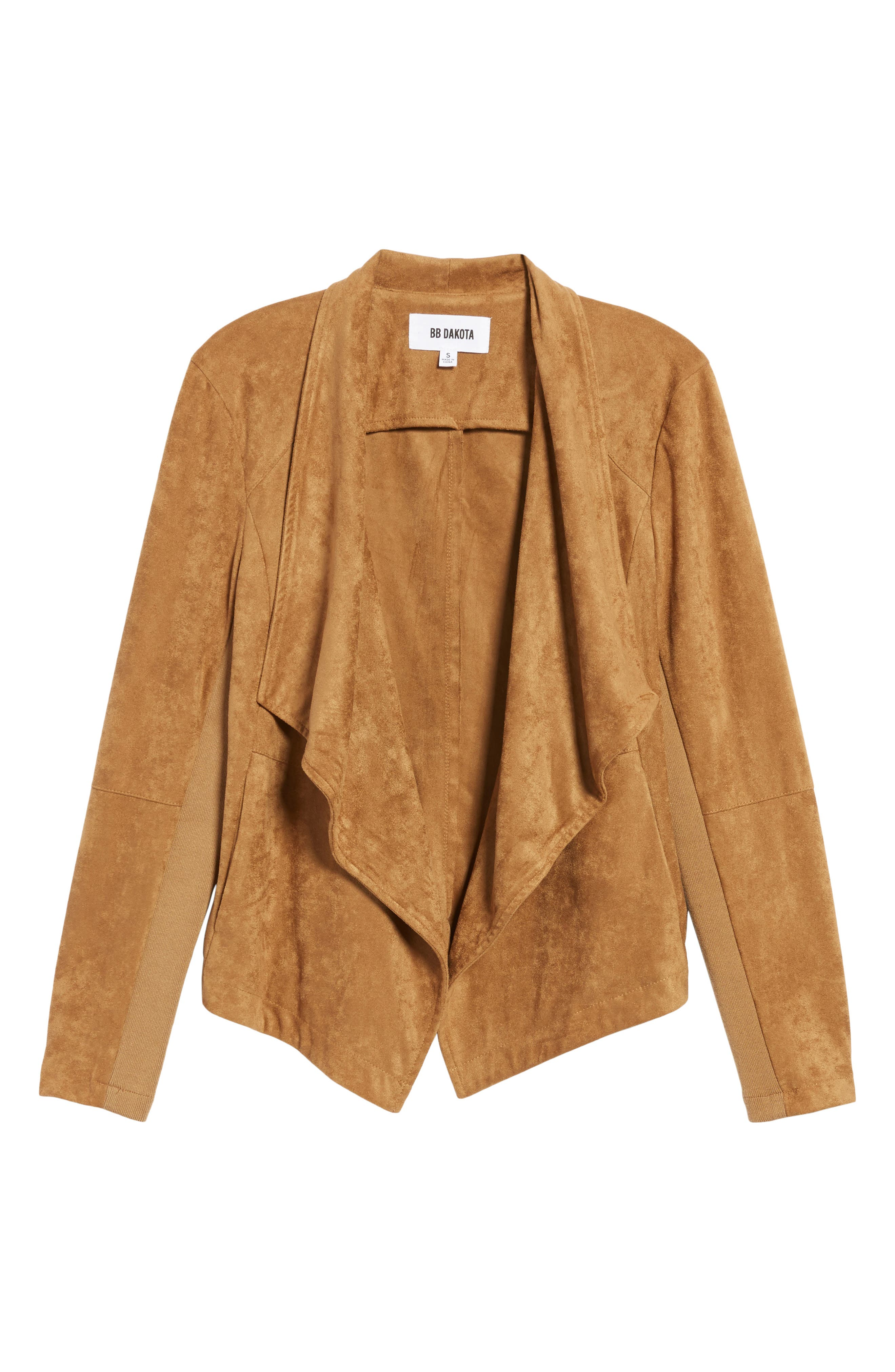 ,                             Nicholson Faux Suede Drape Front Jacket,                             Alternate thumbnail 33, color,                             252