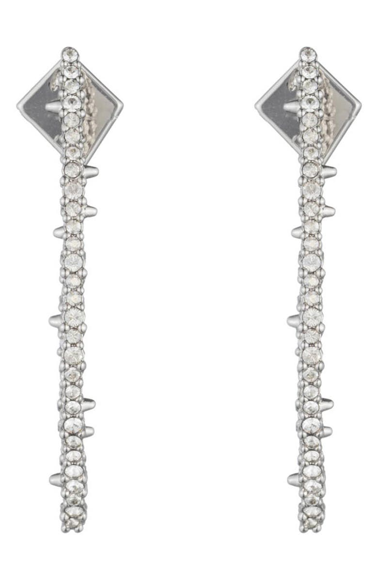 ALEXIS BITTAR Abstract Thorn Earrings, Main, color, CRYSTAL/ SILVER