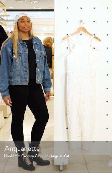 Ivonne Eyelet Crop Jumpsuit, sales video thumbnail