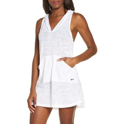 Nike Essential Hooded Cover-Up Dress, White