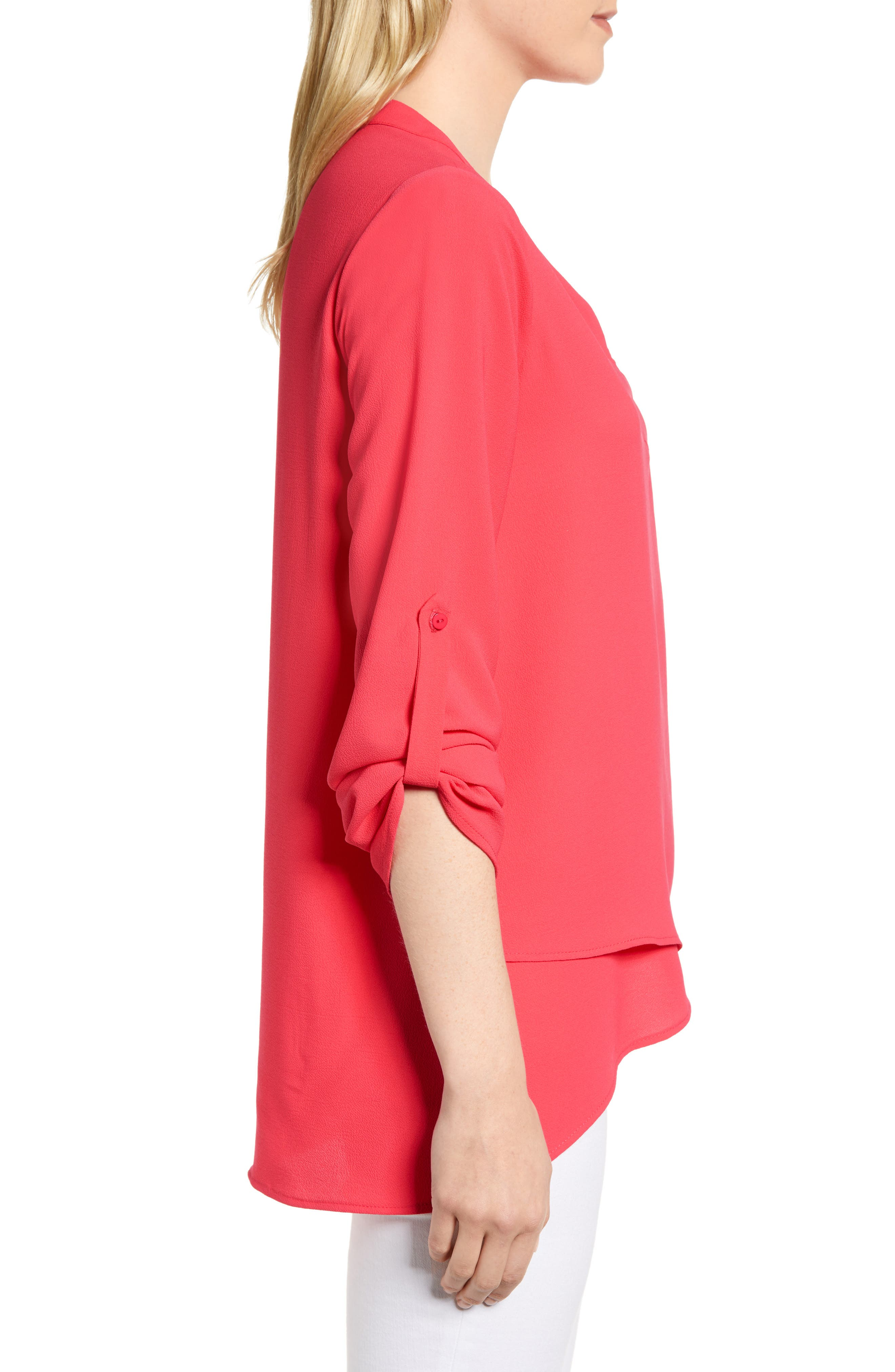 ,                             x International Women's Day Erin Cross Front Tunic Blouse,                             Alternate thumbnail 68, color,                             651