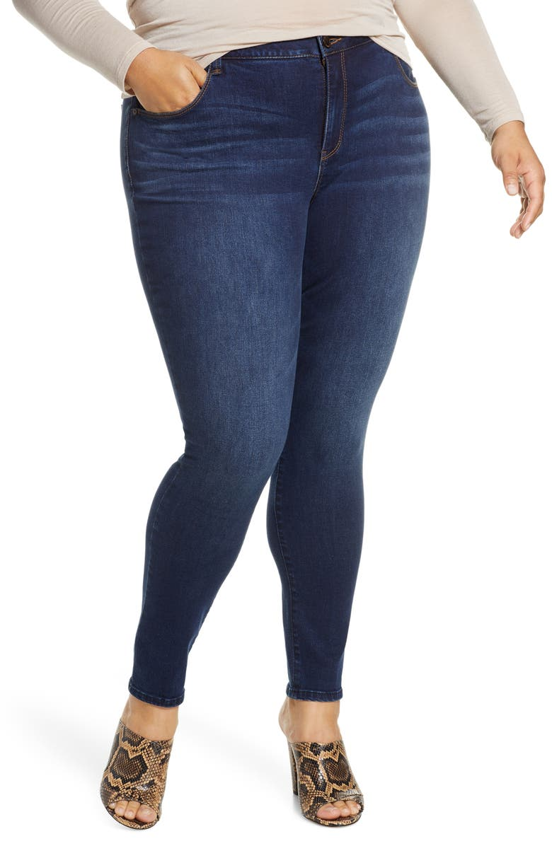 WIT & WISDOM Ab-solution High Waist Denim Leggings, Main, color, INDIGO