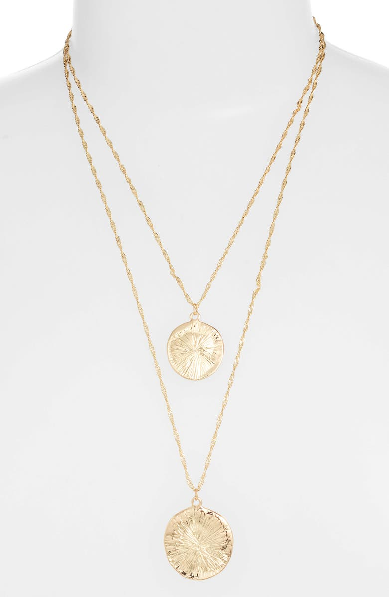 8 OTHER REASONS x Jill Jacobs Layered Pendant Necklace, Main, color, 710