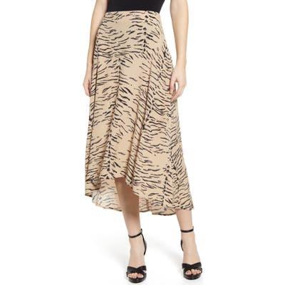 Leith Paneled Midi Skirt, Brown