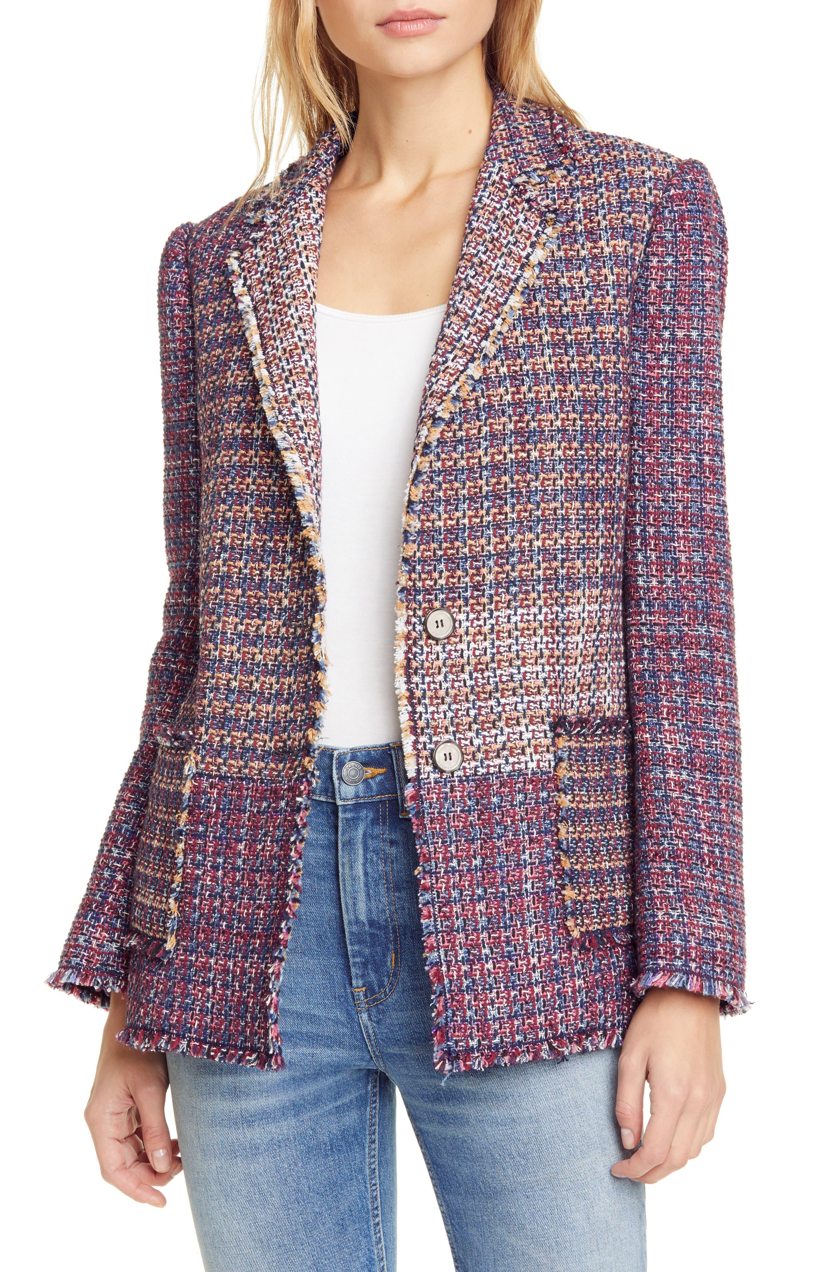Image of Rebecca Taylor Blanket Tweed Blazer