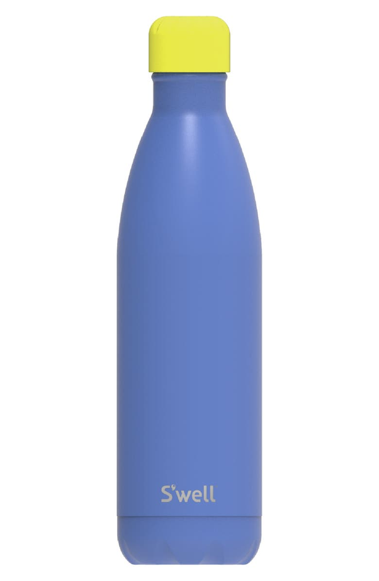 S'WELL Berry Happy 25-Ounce Insulated Stainless Steel Water Bottle, Main, color, BLUE