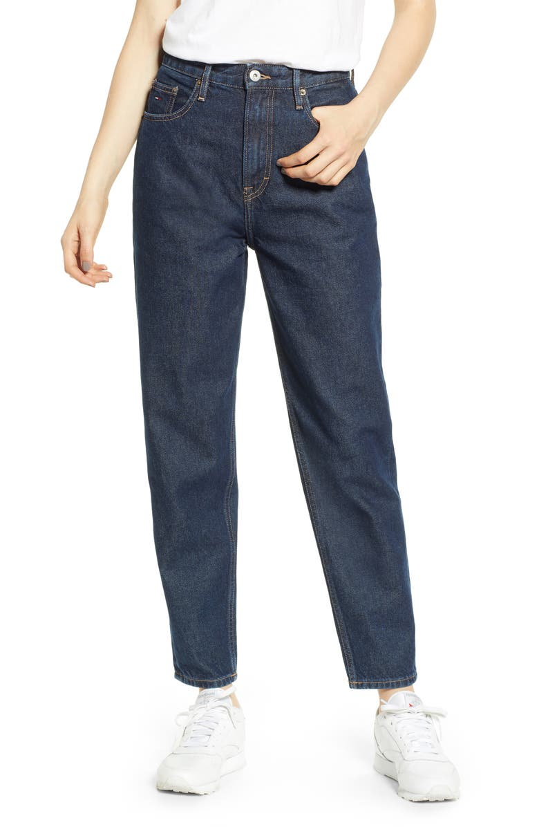 TOMMY JEANS High Waist Recycled Denim Jeans, Main, color, 400
