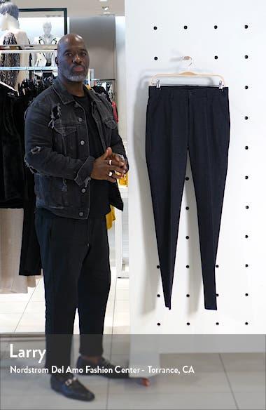 Flat Front Plaid Stretch Cotton Dress Pants, sales video thumbnail