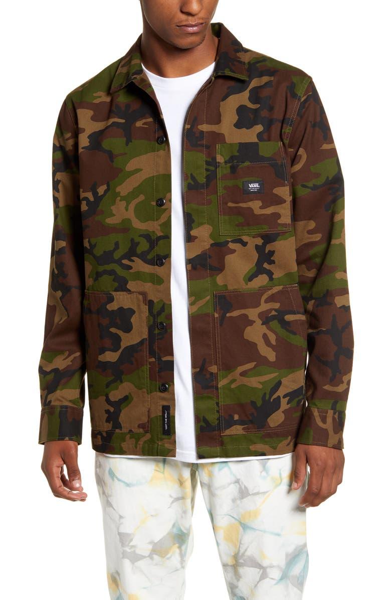 VANS Fullerton Camo Chore Jacket, Main, color, 251