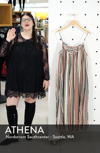 Vertical Stripe Lattice Yoke Dress, sales video thumbnail
