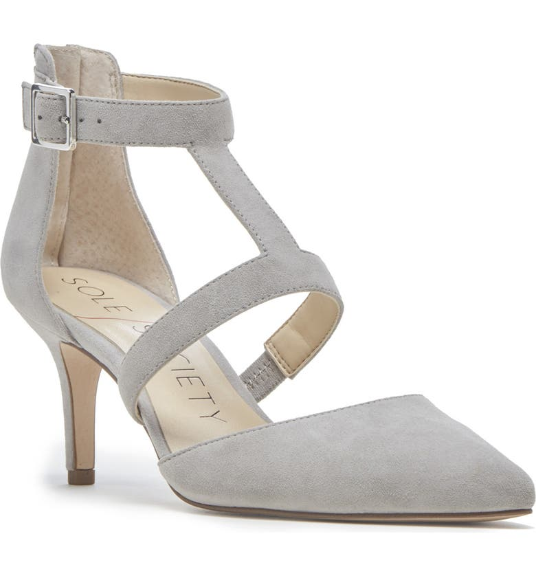 SOLE SOCIETY Edelyn Pump, Main, color, WISPY GREY SUEDE