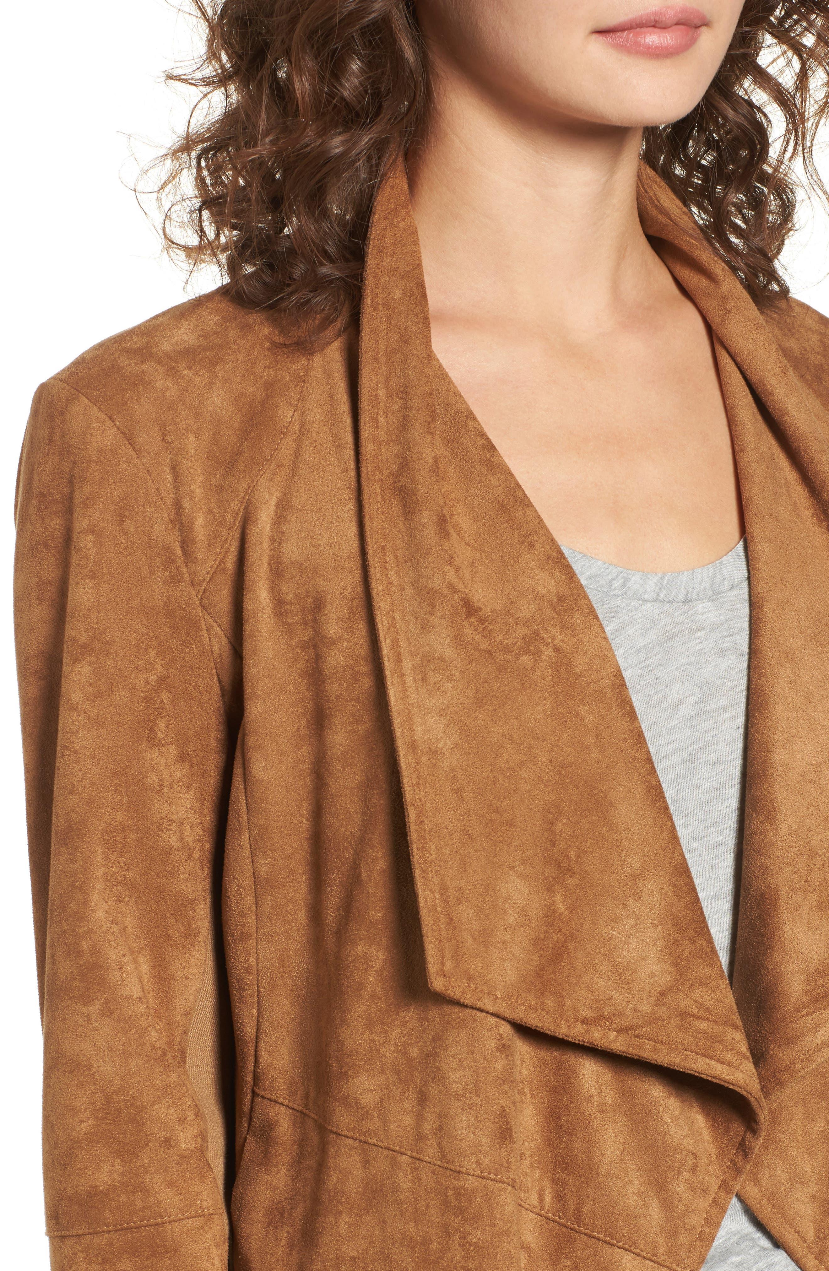 ,                             Nicholson Faux Suede Drape Front Jacket,                             Alternate thumbnail 31, color,                             252