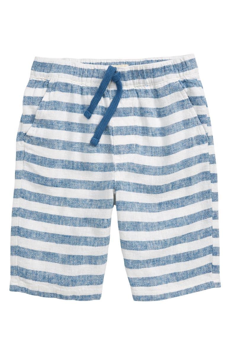 TUCKER + TATE Oh Those Summer Stripes Shorts, Main, color, BLUE DARK- WHITE STRIPE