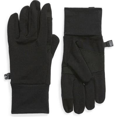 Icebreaker Sierra Tech Touchscreen Compatible Fleece Gloves, Black