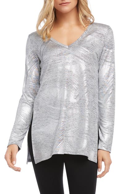 Karen Kane Knits METALLIC KNIT TOP