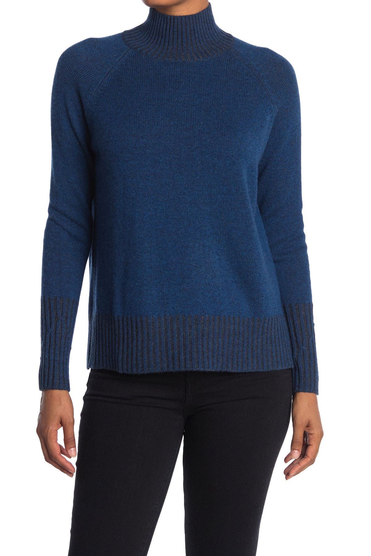 Image of Kinross Mock Neck Cashmere Pullover Sweater