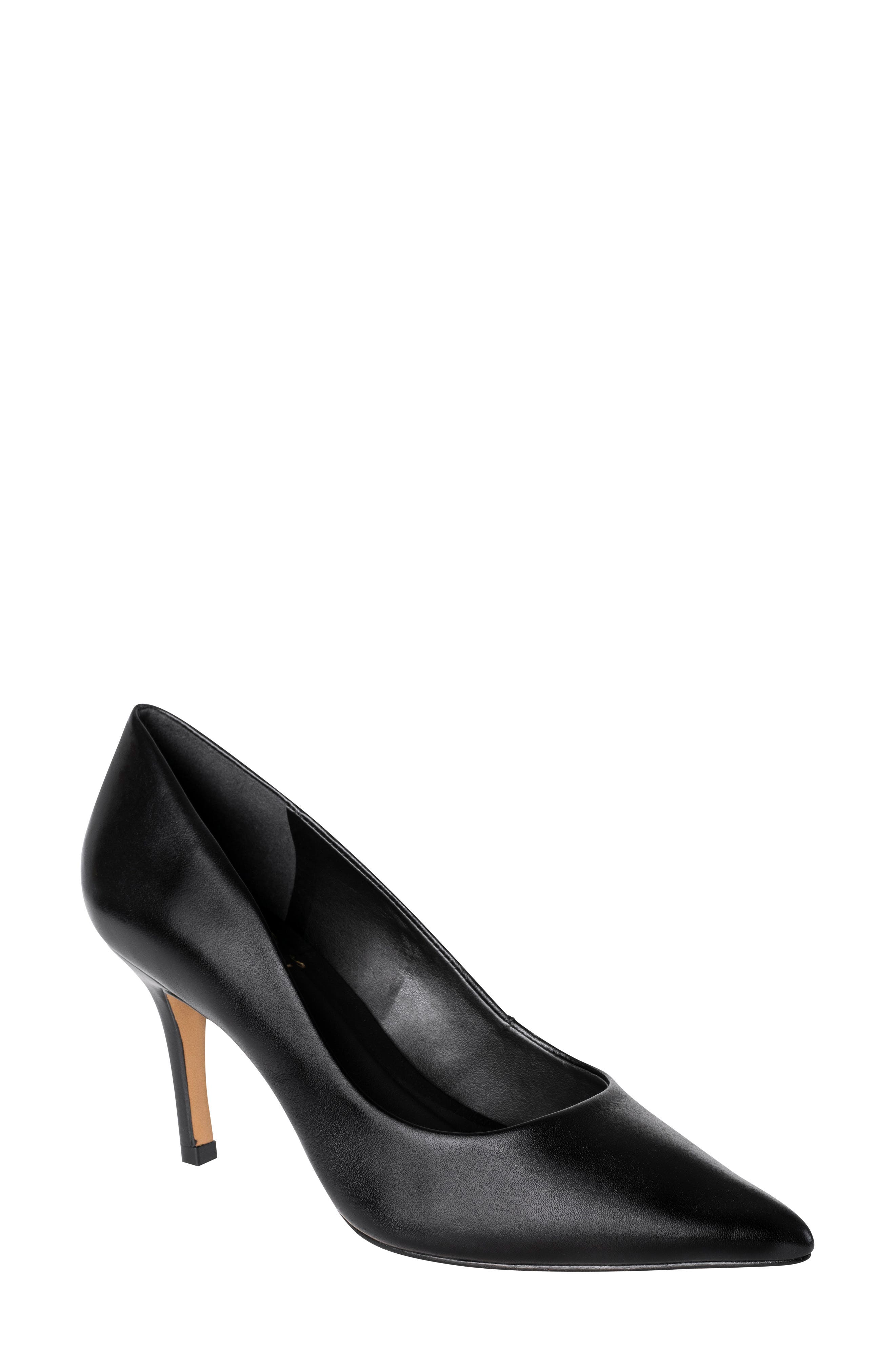 Anya Pointy Toe Pump, Main, color, BLACK LEATHER