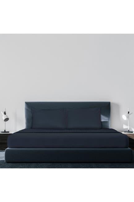 Image of Pillow Guy Luxe Soft & Smooth Tencel 6-Piece Sheet Set - Dark Navy - Queen Size