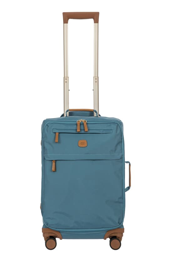 """Bric's X-travel 21"""" Carry-on Spinner Luggage In Grey/ Blue"""