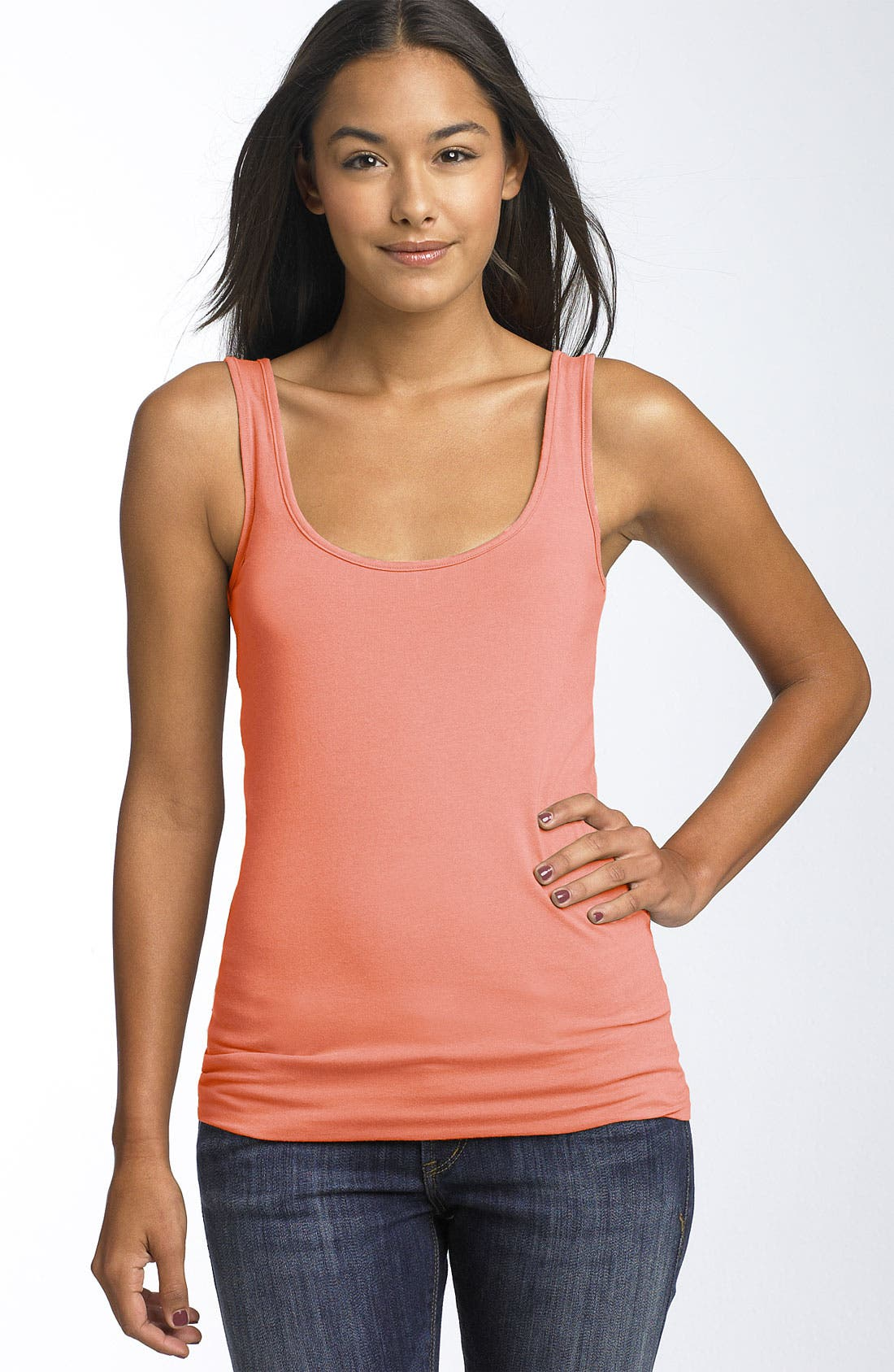 ,                             Double Scoop Neck Tank,                             Main thumbnail 286, color,                             667