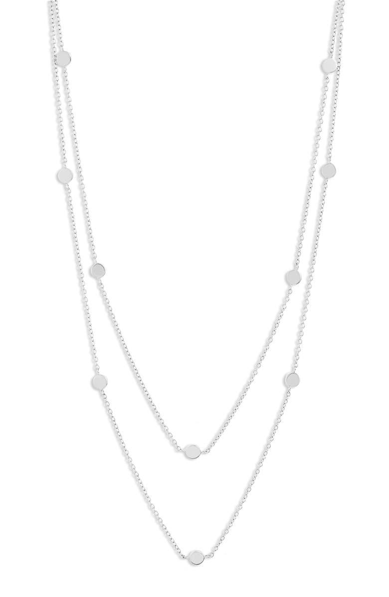 JENNIFER ZEUNER Amari Station Necklace, Main, color, STERLING SILVER