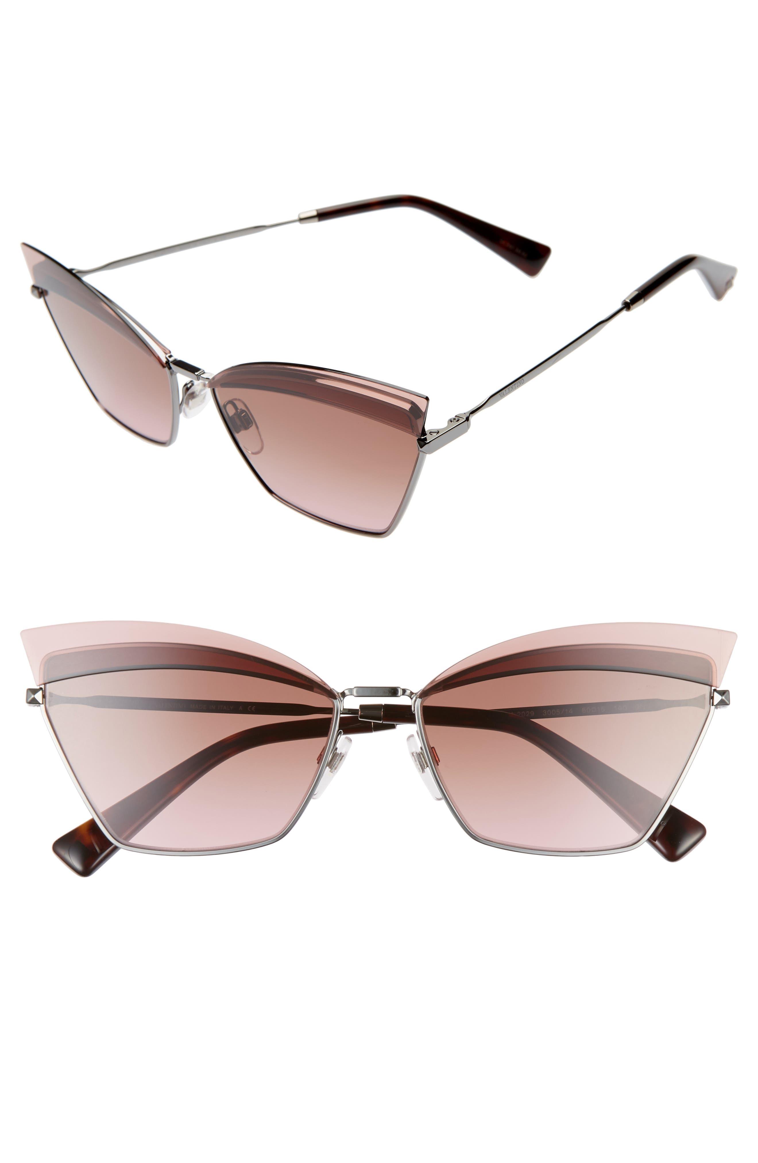 Valentino 60Mm Cat Eye Sunglasses -