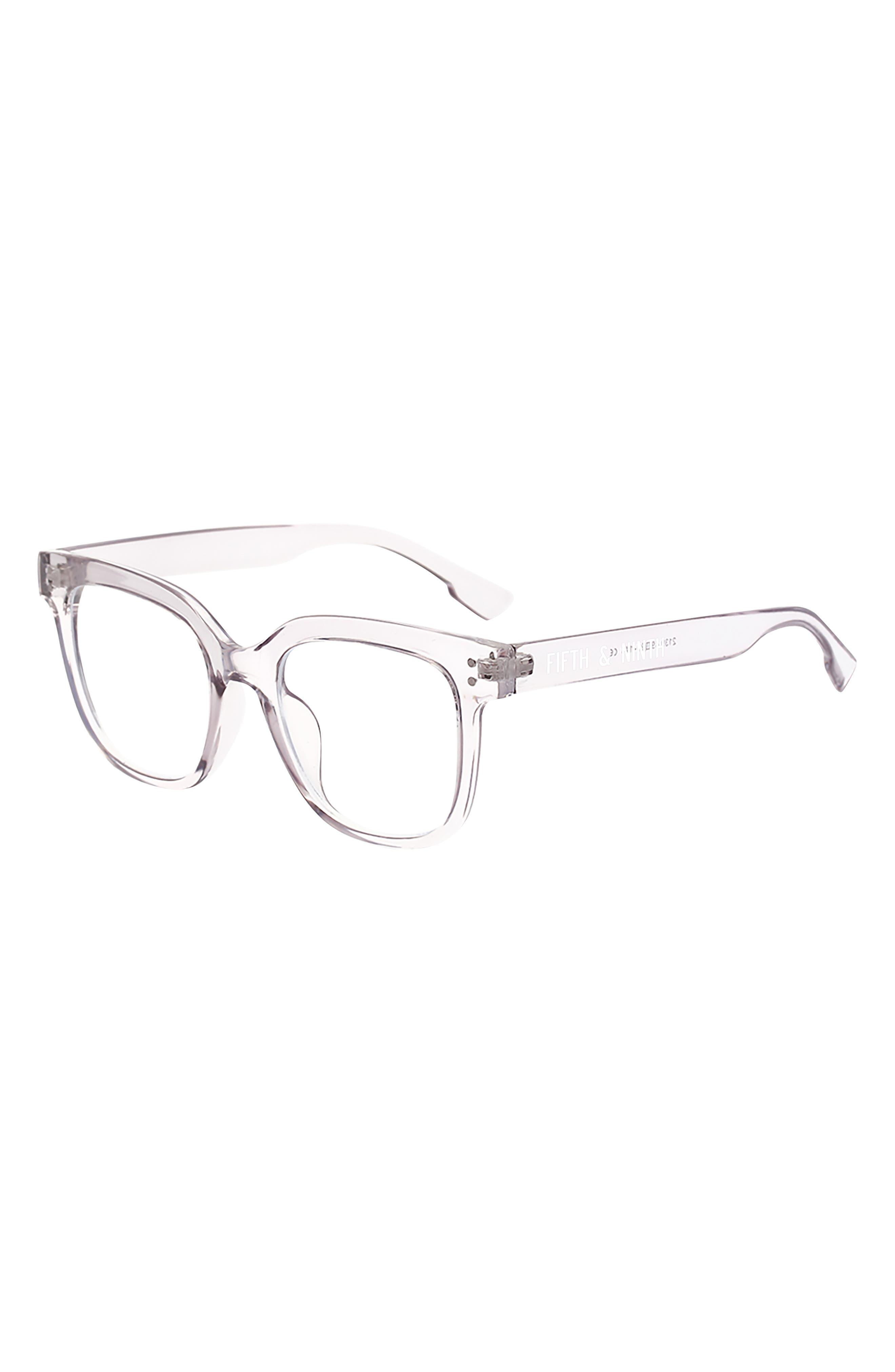 Draper 55mm Square Blue Light Blocking Glasses