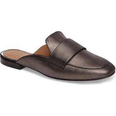 Linea Paolo Annie Genuine Calf Hair Loafer Mule- Metallic