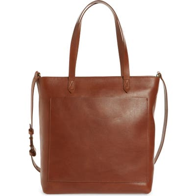 Madewell The Zip-Top Medium Transport Leather Tote -
