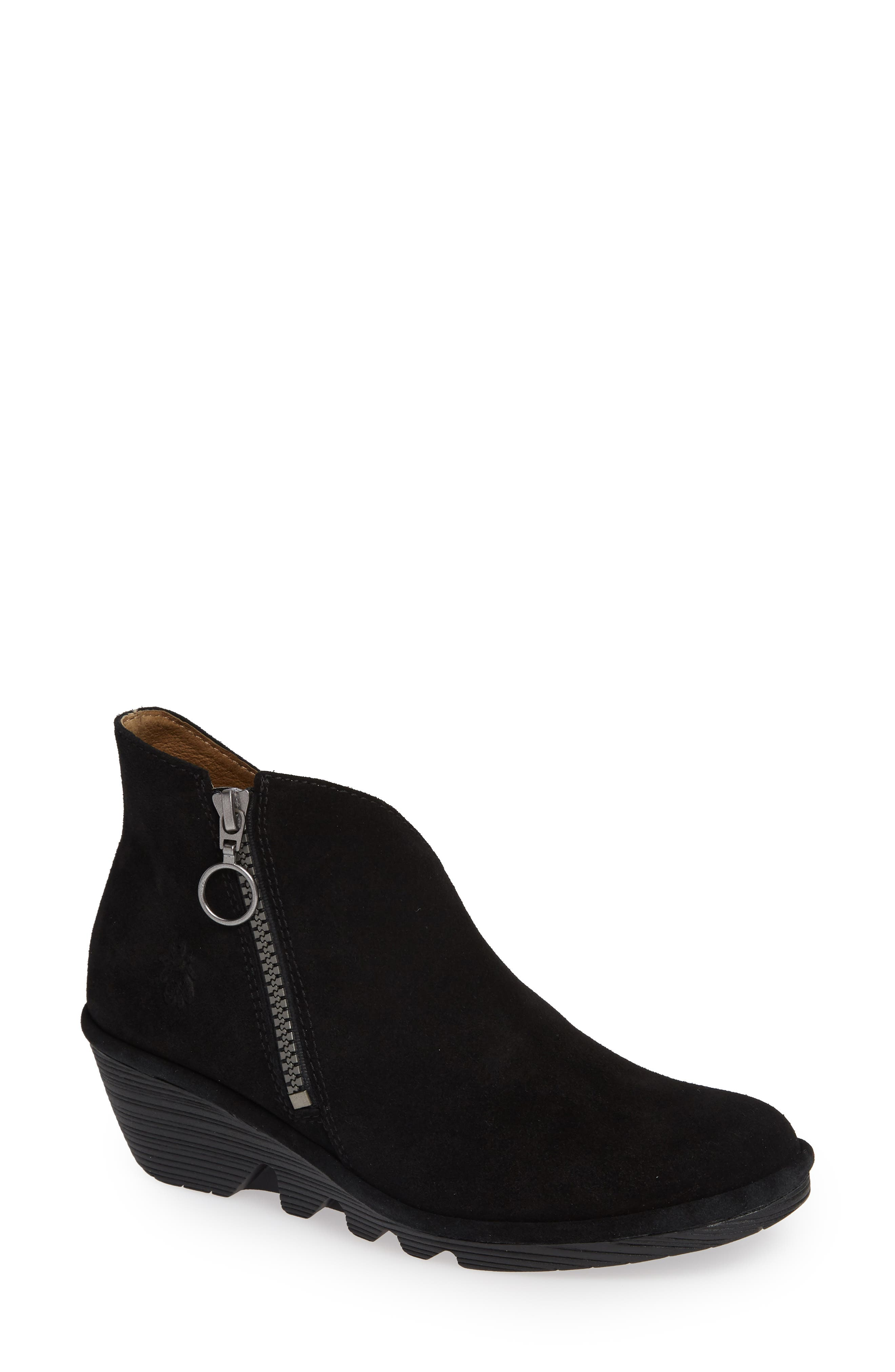 Fly London Poro Wedge Bootie - Black
