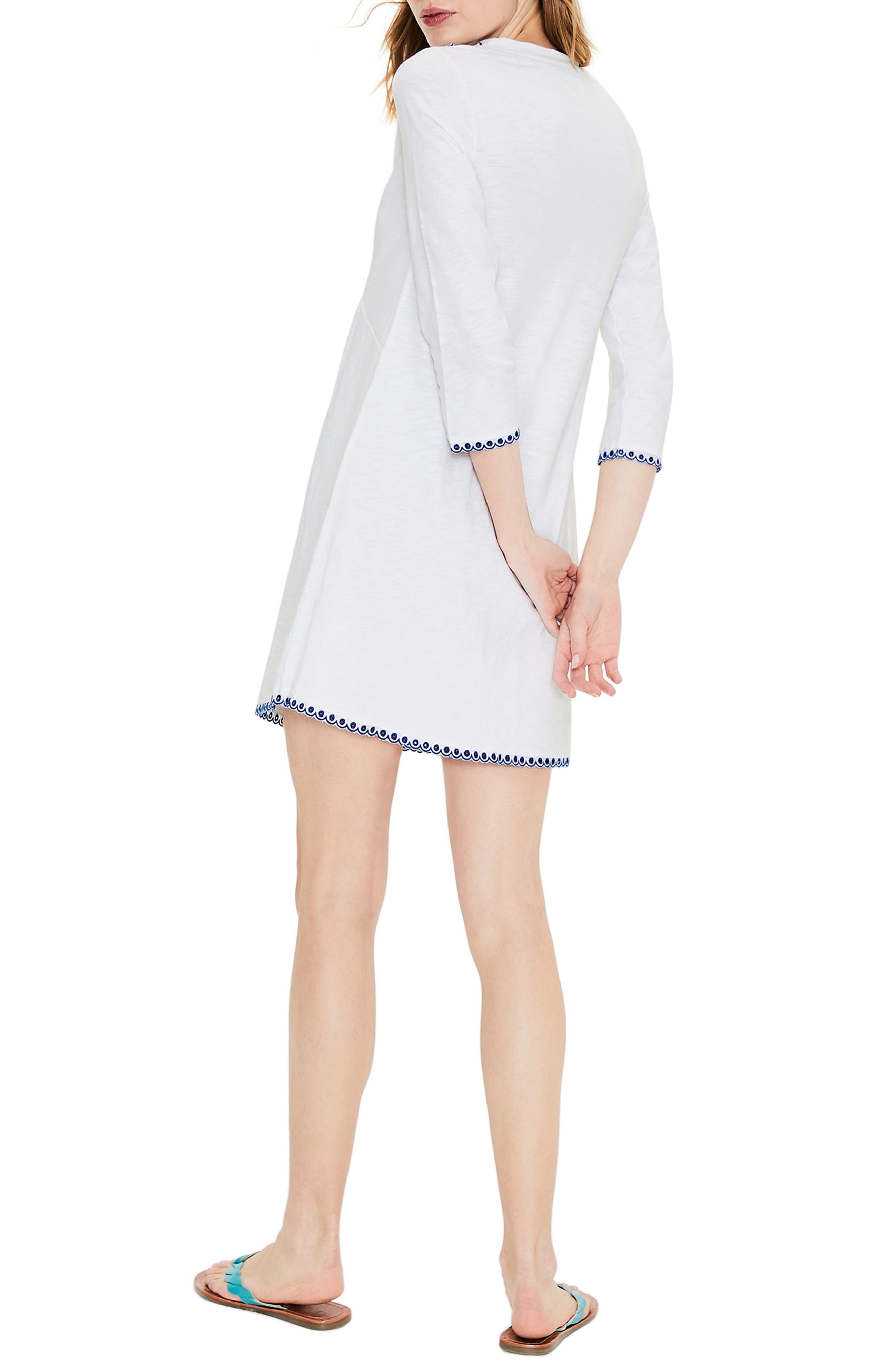 ,                             Rosanna Jersey Tunic,                             Alternate thumbnail 2, color,                             WHITE/ COBALT