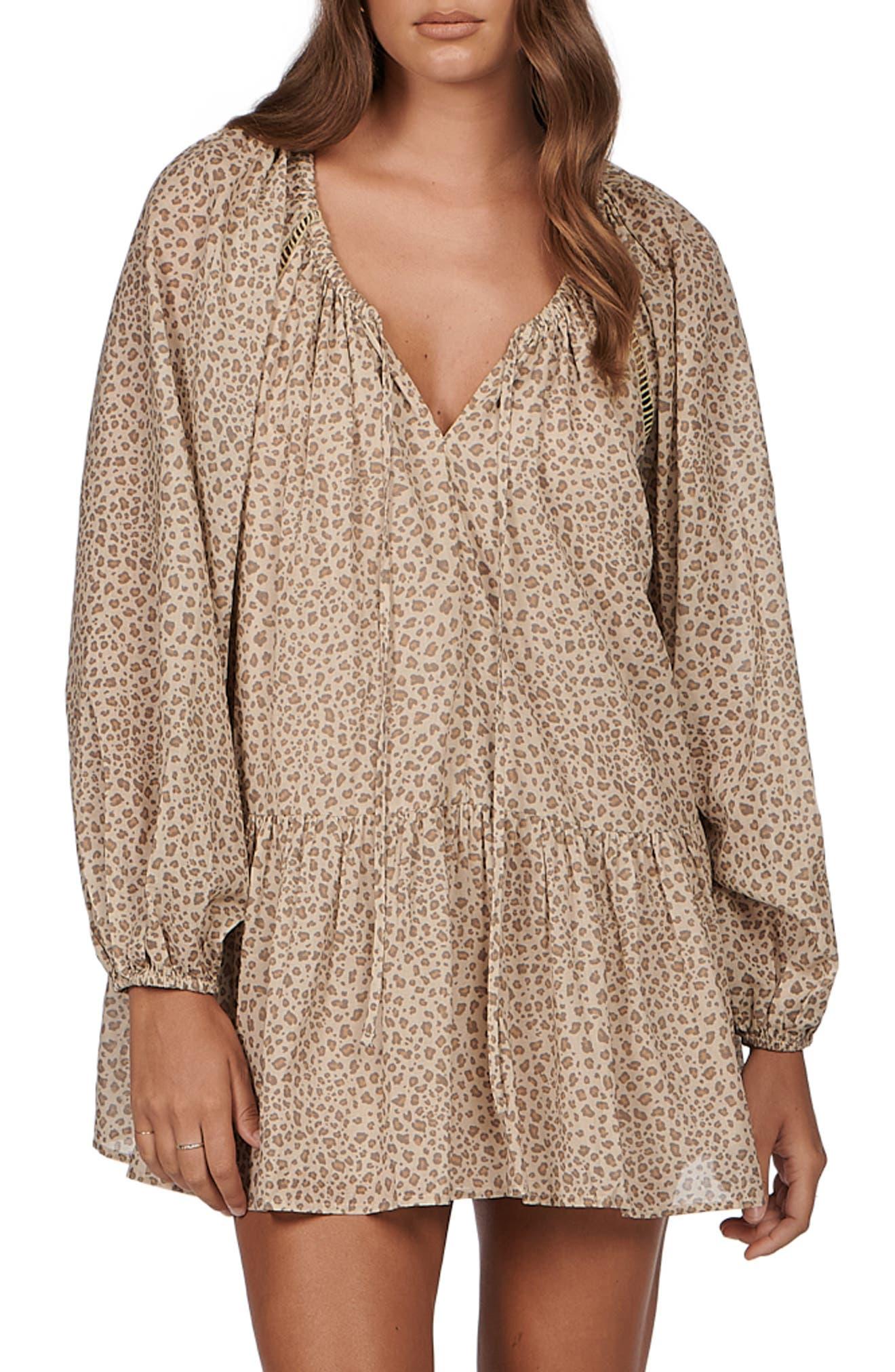Joni Long Sleeve Cotton Minidress