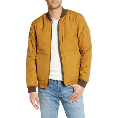 Jeremiah Hedges Quilted Bomber Jacket, Brown