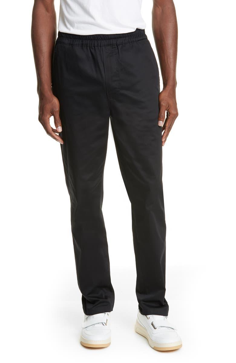 ACNE STUDIOS Slim Fit Satin Trousers, Main, color, BLACK