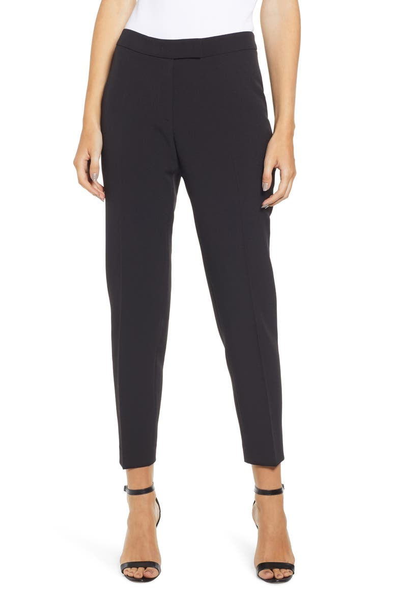 ANNE KLEIN Slim Stretch Woven Pants, Main, color, 001