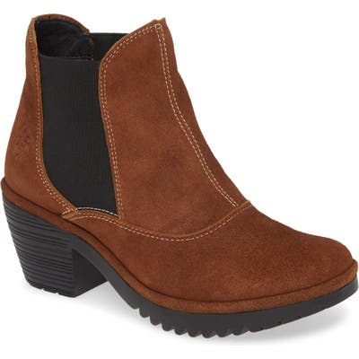 Fly London Wote Chelsea Boot, Brown