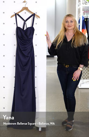 Ruched Soft Jersey Evening Dress, sales video thumbnail