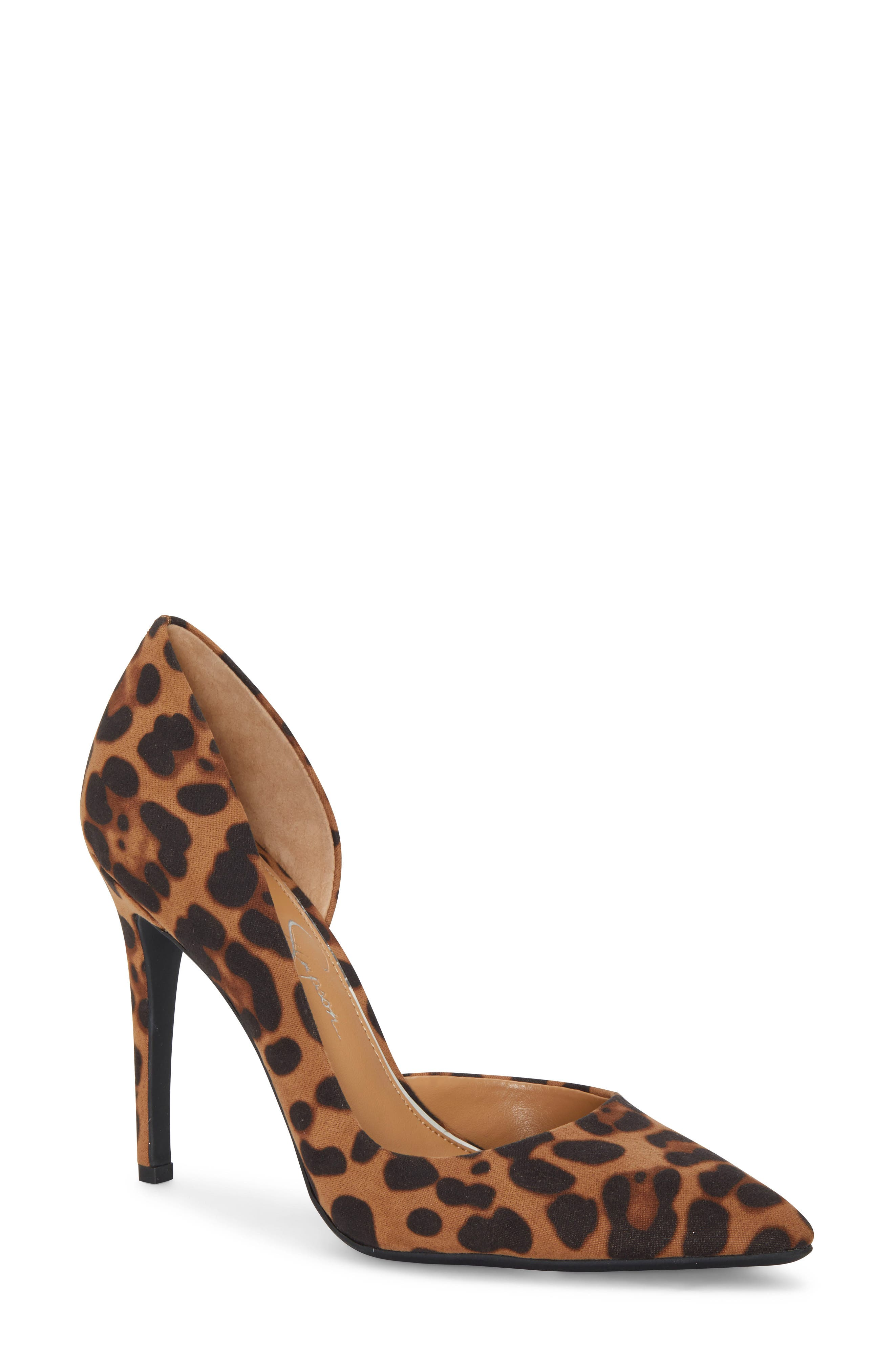 A curvy open side and a smartly pointed toe bring gorgeous balance to a wardrobe-staple pump lofted high on a penthouse stiletto. Style Name: Jessica Simpson Pheona Pump (Women). Style Number: 5549579 6. Available in stores.
