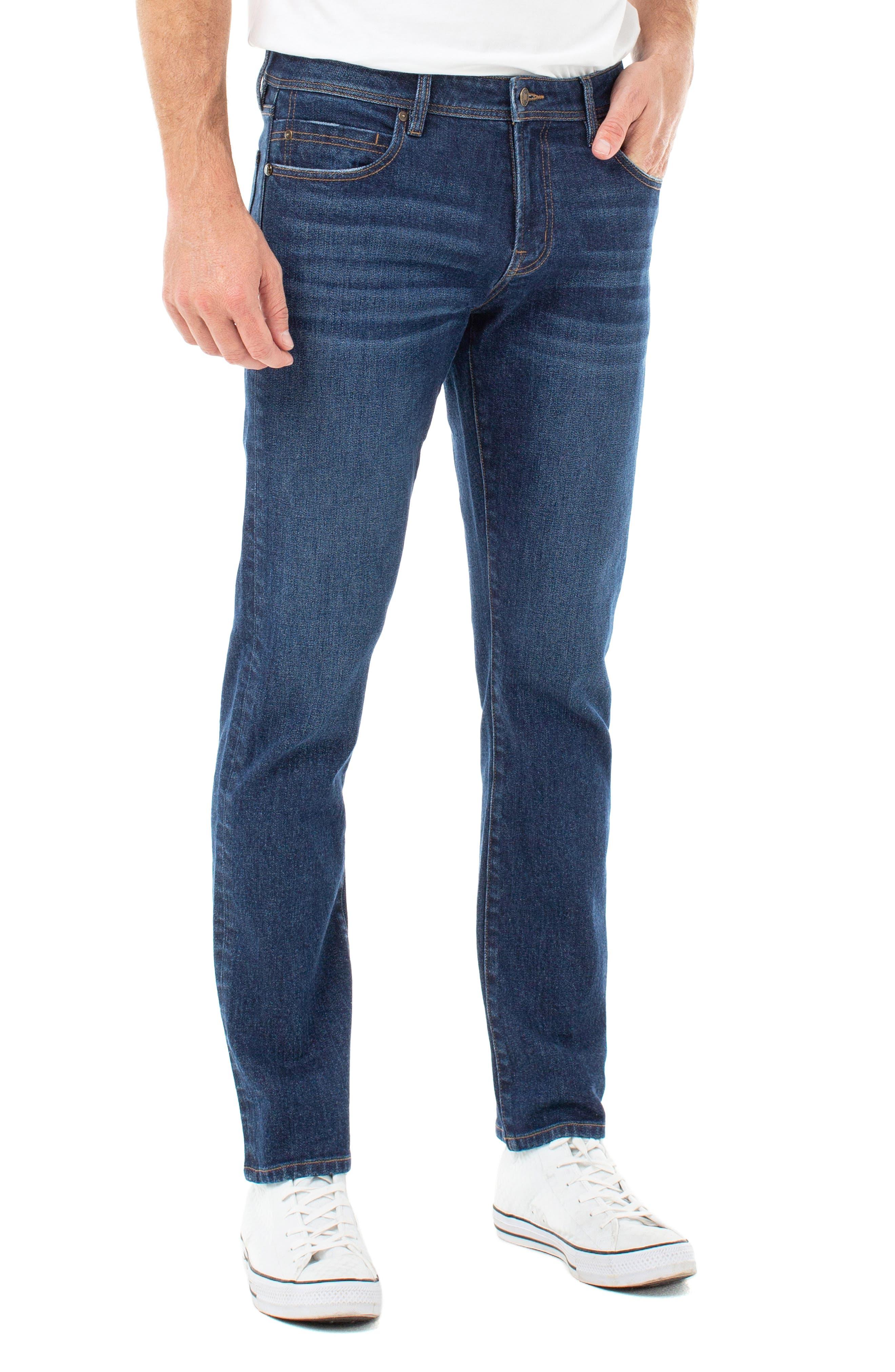 Men's Liverpool Kingston Modern Straight Leg Jeans,  30 x 32 - Blue