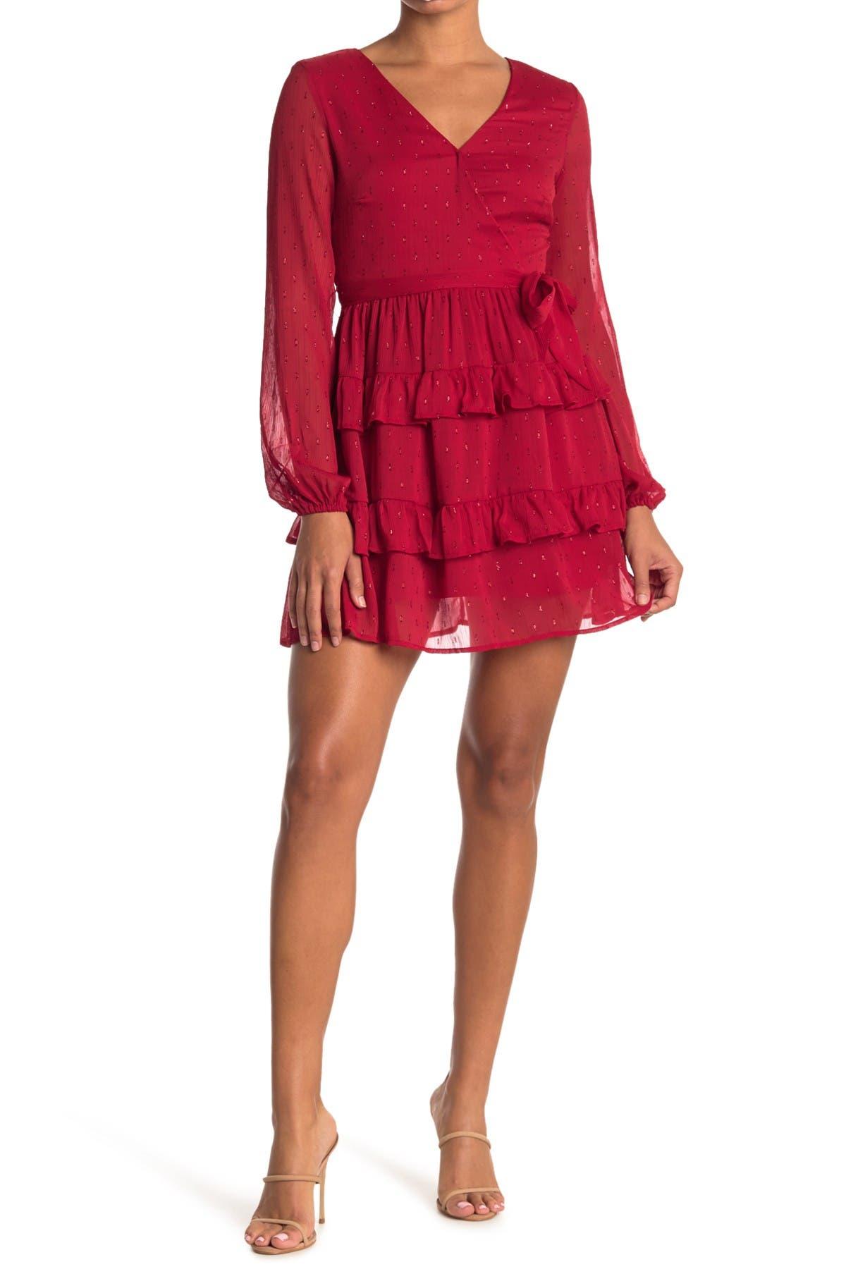 Image of Love, Fire Tiered Mini Dress