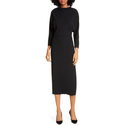 A.l.c. Naveen Dolman Long Sleeve Midi Dress, Black