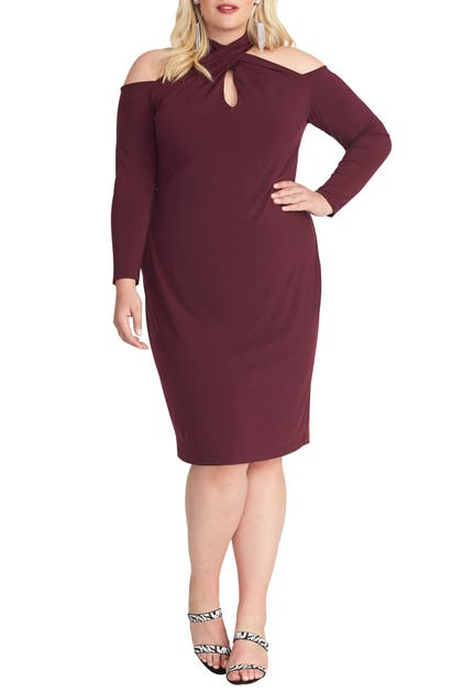 Rachel Rachel Roy Dresses SIMONE LONG SLEEVE COLD SHOULDER JERSEY DRESS