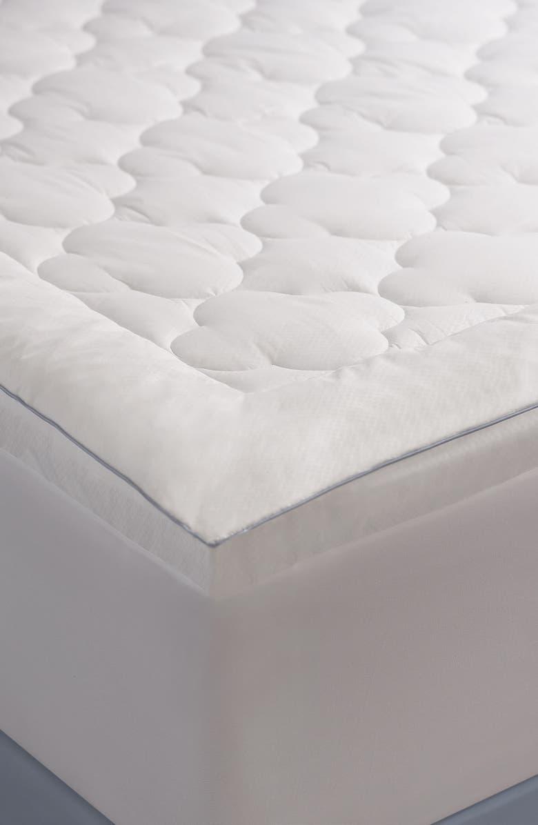 CLIMAREST Mattress Pad, Main, color, WHITE
