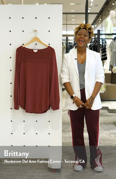 Bishop Sleeve Cotton Blend Sweater, sales video thumbnail