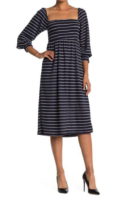 Image of Velvet Torch Stripe Smocked Dress