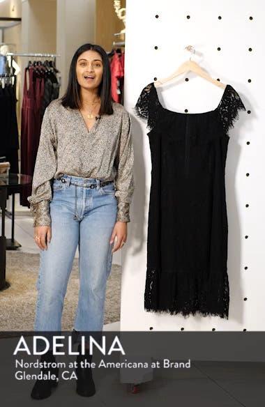 Devotion Off the Shoulder Lace Dress, sales video thumbnail