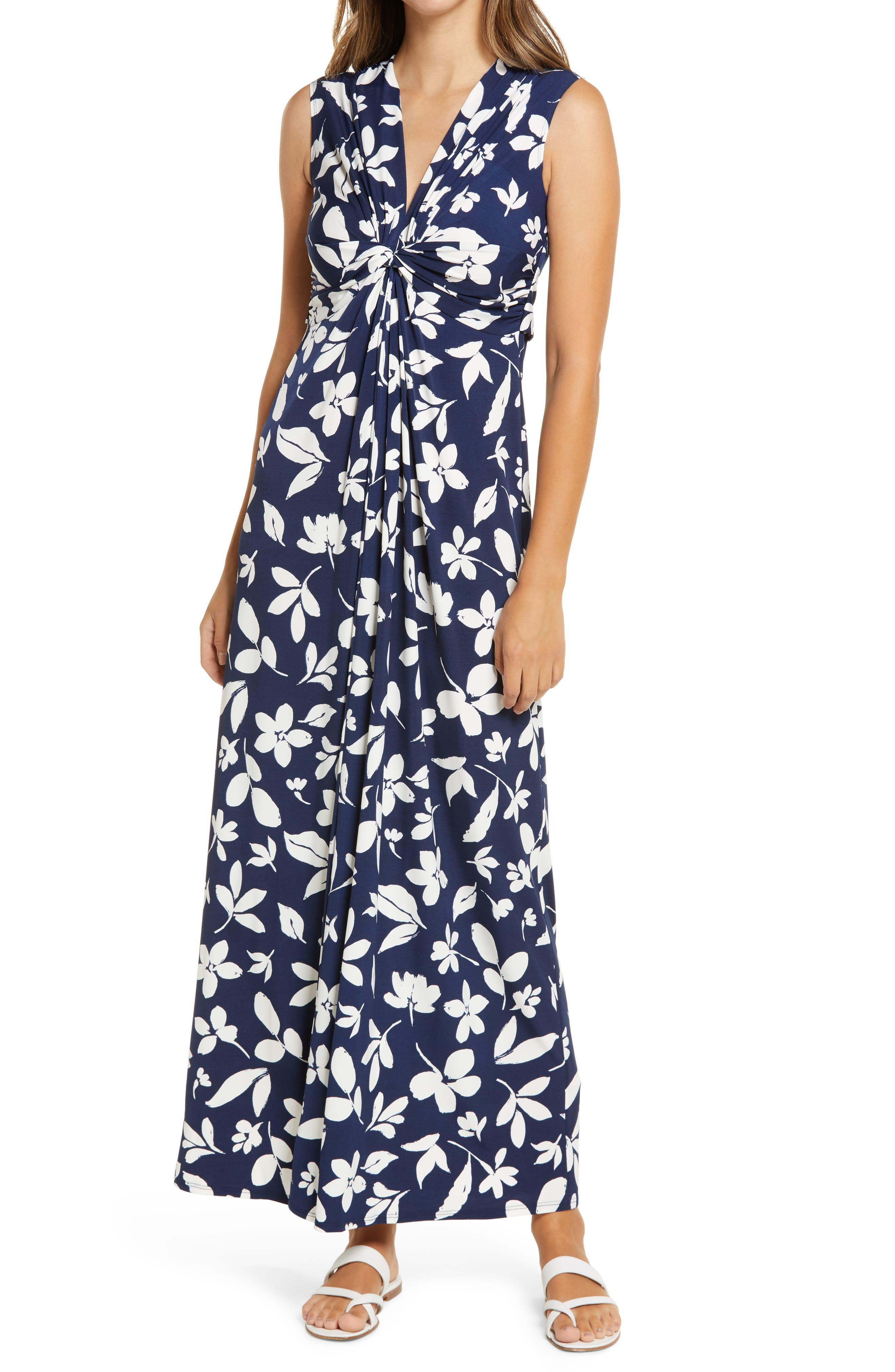 Image of Eliza J Sleeveless Maxi Dress w/ Twist Front