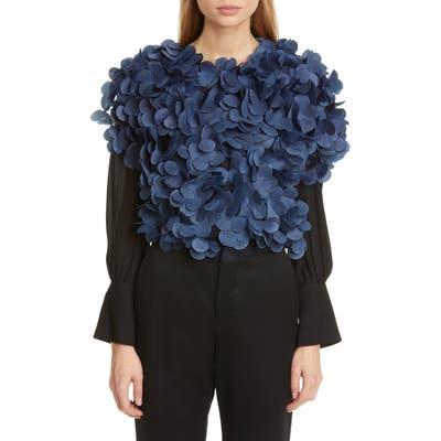 Stella Mccartney Floral Embellished Tulle Bolero, US - Blue
