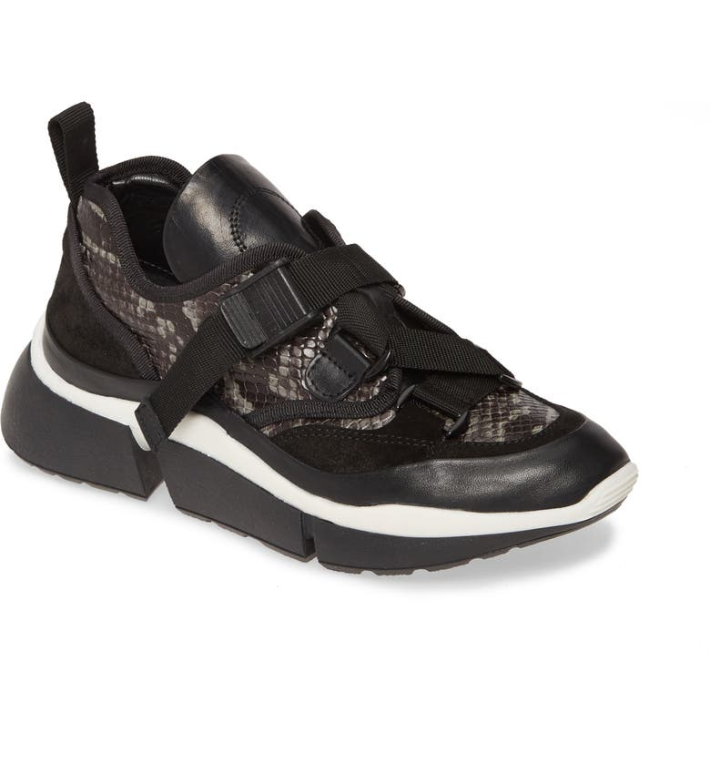 SHERIDAN MIA Mignons Sneaker, Main, color, BLACK LEATHER